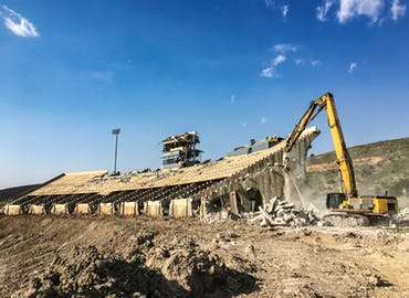 Colorado State University Hughes Stadium Demolition