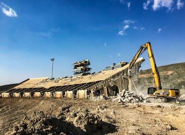 Colorado State University Hughes Stadium Demolition